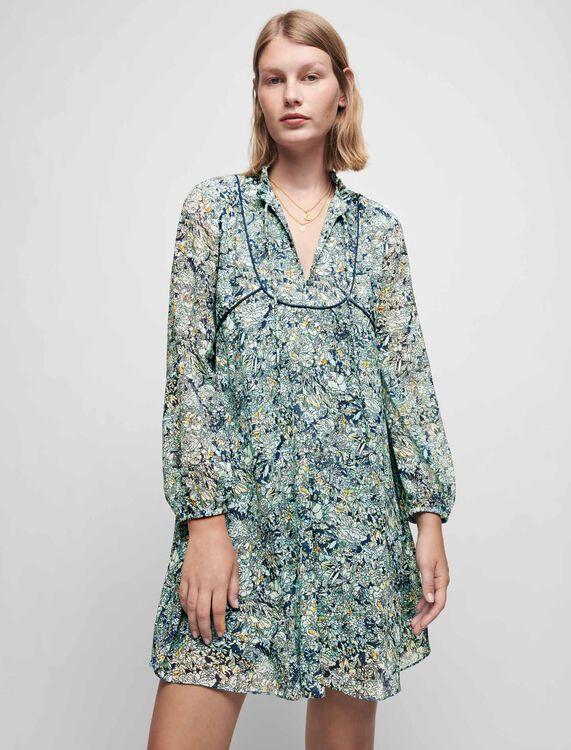 Printed chiffon dress - Dresses - MAJE