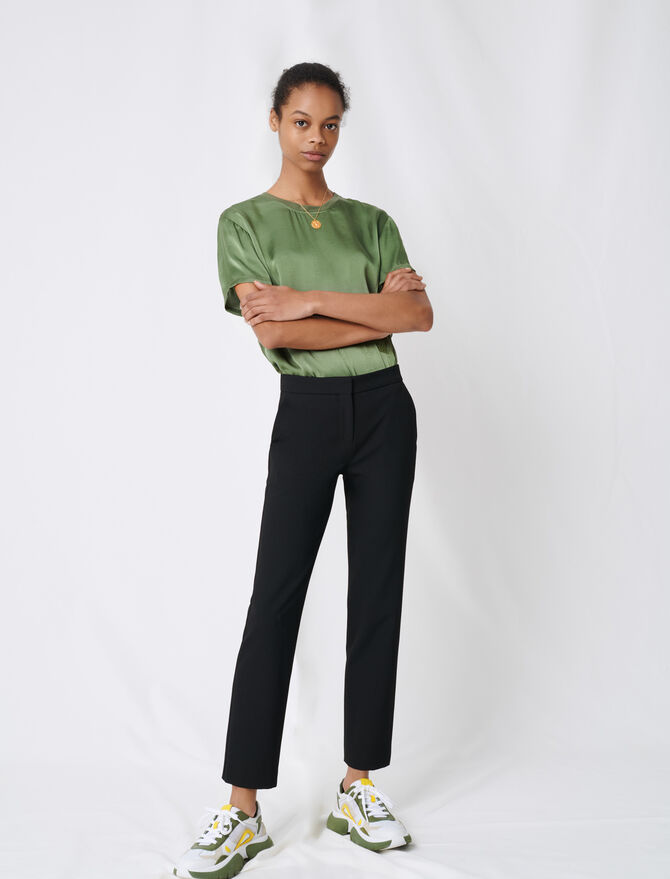 Stretch twill tailored trousers - Trousers & Jeans - MAJE