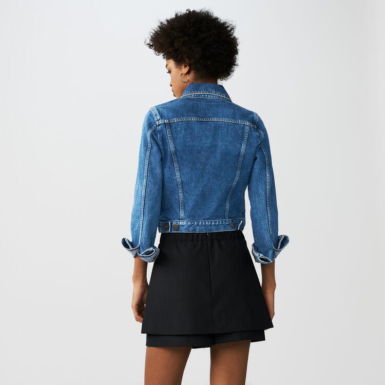 Skort with tennis stripes : Skirts & Shorts color Stripe