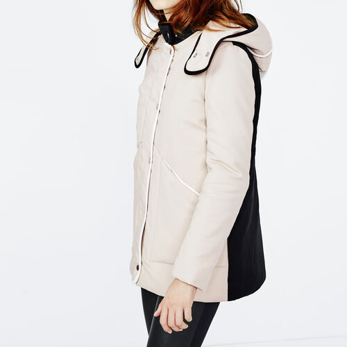 Two-tone padded parka : Coats color Beige