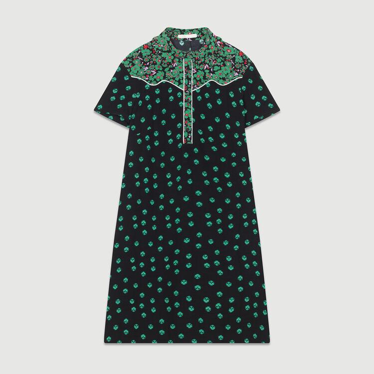 Printed shirt dress : Dresses color PRINTED