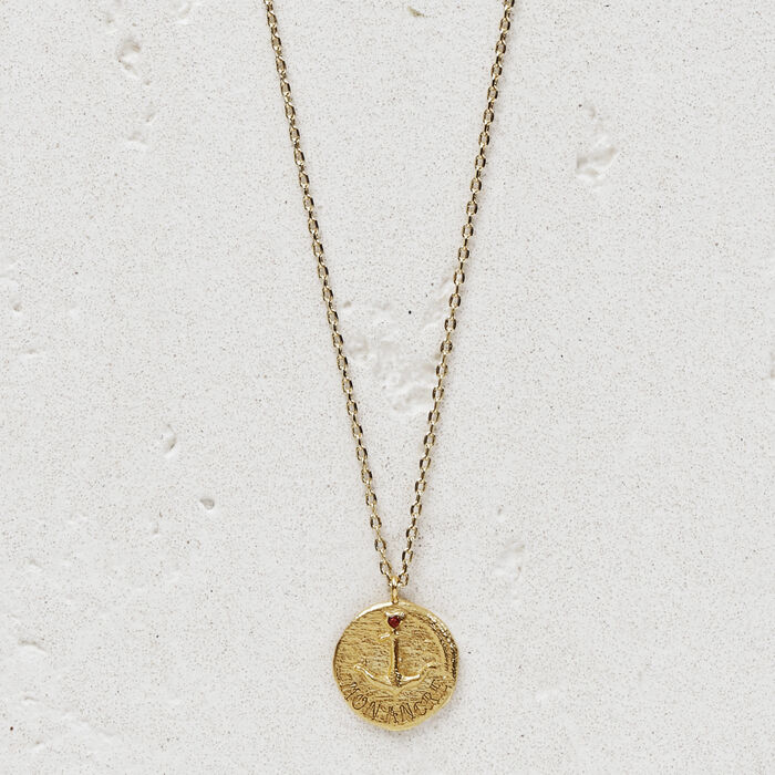 "Necklace with medallion ""Mon ancre"" : Jewelry color GOLD"