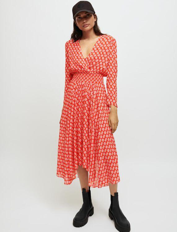 Smocked Maje printed dress - Dresses - MAJE