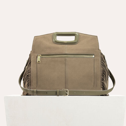 Suede shoulder bag : -40% color Khaki