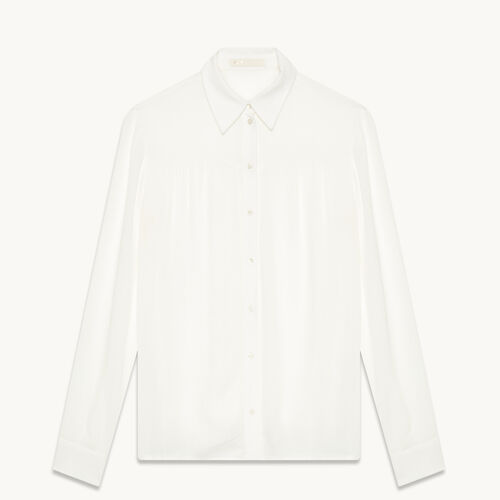 Floaty blouse : Tops color Ecru