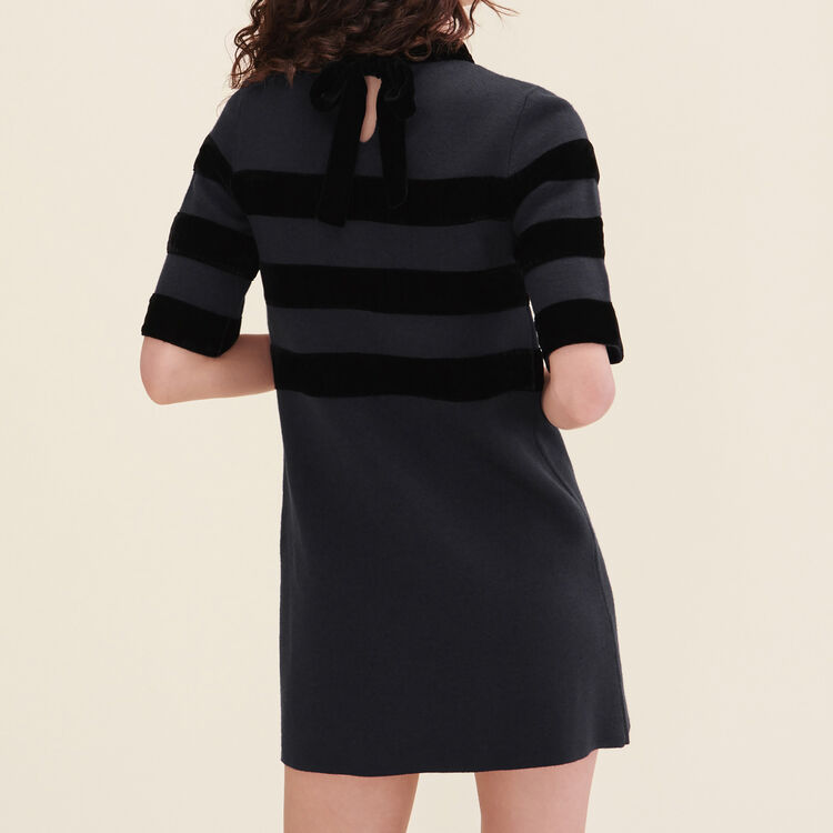 Short locknit dress : Dresses color Navy