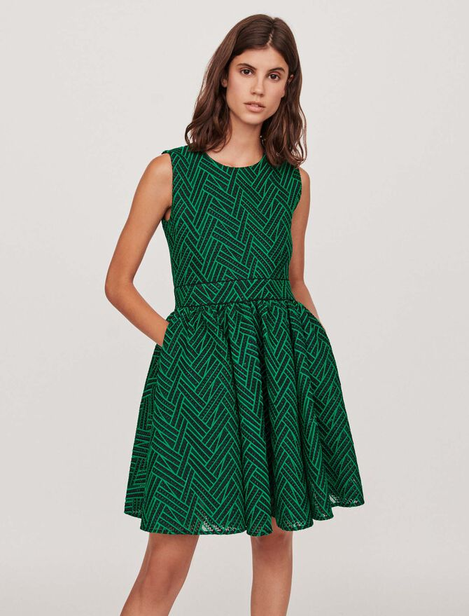 Basket-stitched knit dress - Best Sellers - MAJE