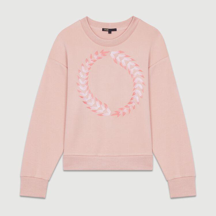Fleece sweatshirt : New collection color PECHE