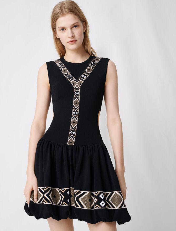 Black knit skater dress -  - MAJE