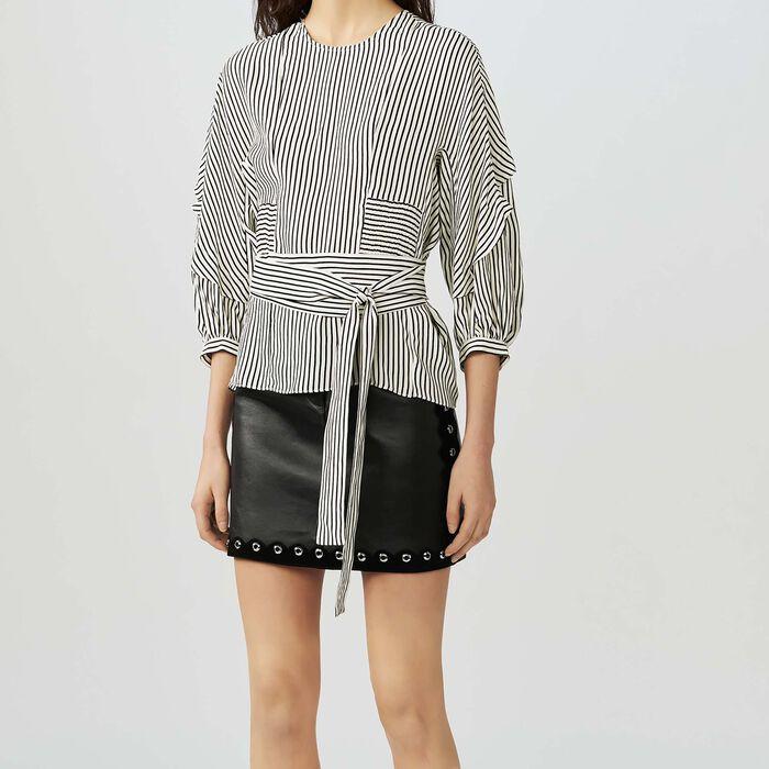 Smocked striped top : Tops color Stripe