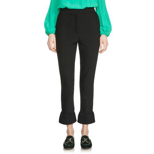 Straight-leg trousers : Trousers & Jeans color Black 210