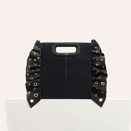 Frilled M bag : Party looks color Black 210