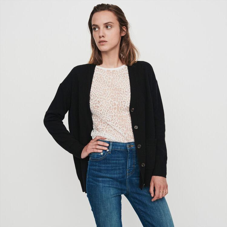 Cashmere cardigan : Winter collection color Black