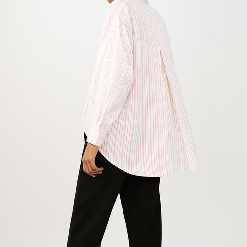 Oversized striped shirt : Tops color Stripe