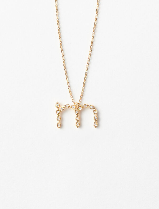 Rhinestone M necklace -  - MAJE