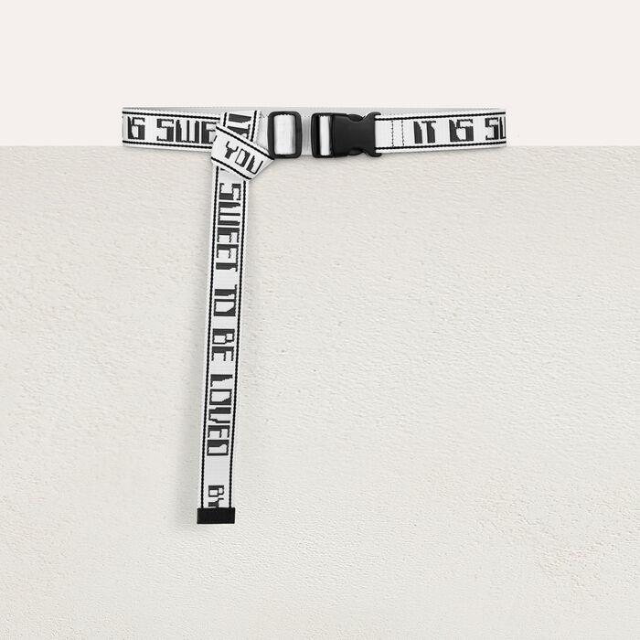 Strap belt : Belts color WHITE