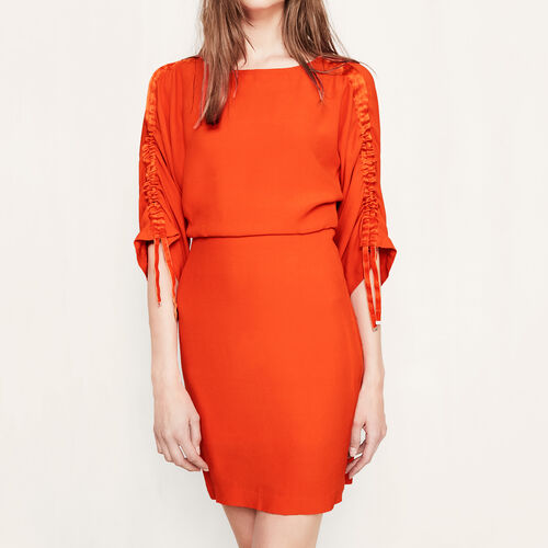 Tunic dress with drawstrings : Dresses color Coral