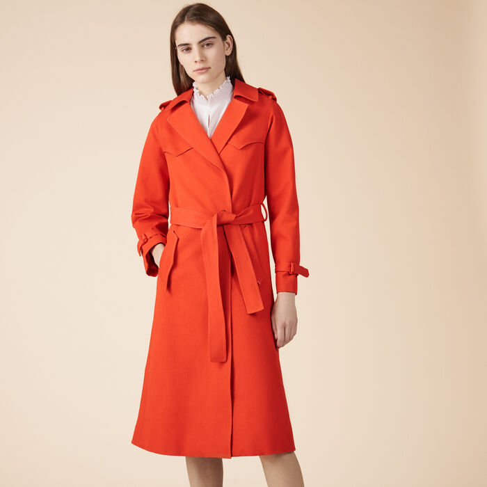 Cotton trench coat - Trench - MAJE