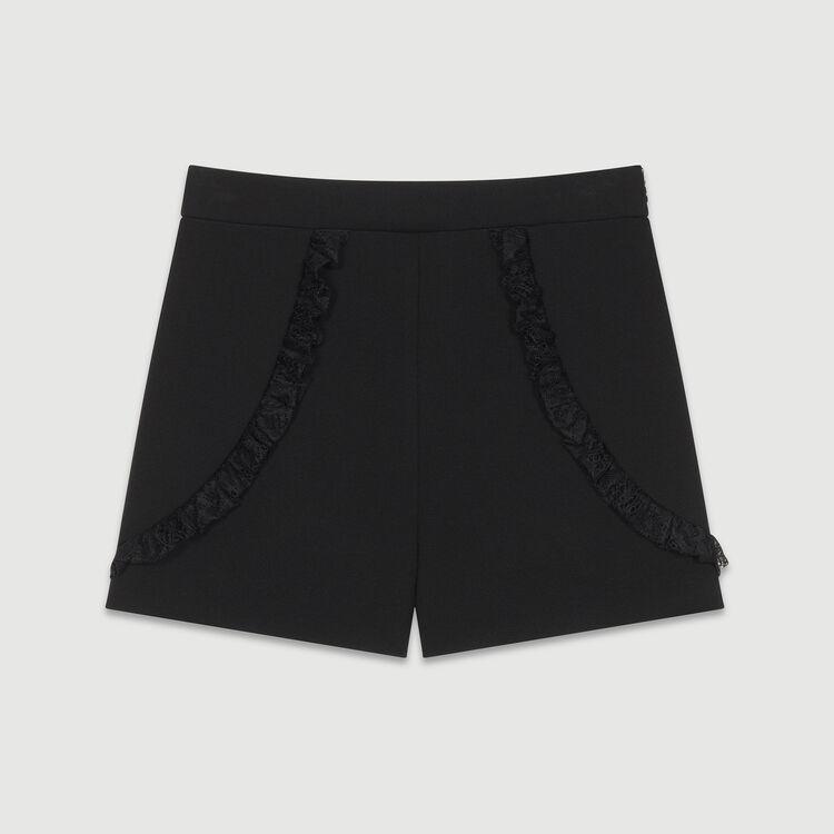 Lace short : Skirts & Shorts color Black 210