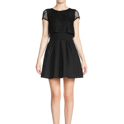 Dress with top in lace : Dresses color Black 210