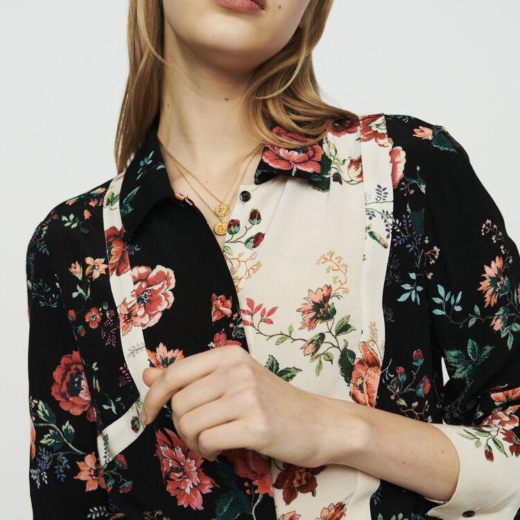 Floral print shirt-dress : Dresses color Printed
