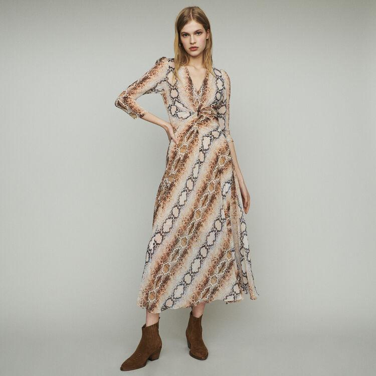 Long dress with python print : Dresses color Print