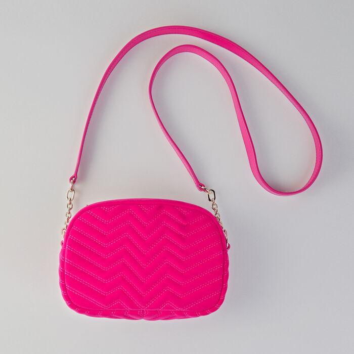 Quilted velvet shoulder bag : Sami bag color Pink