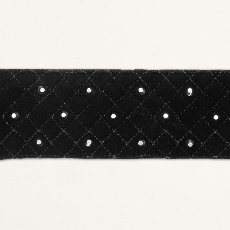 Wide tie belt with studs : Accessoires color Navy