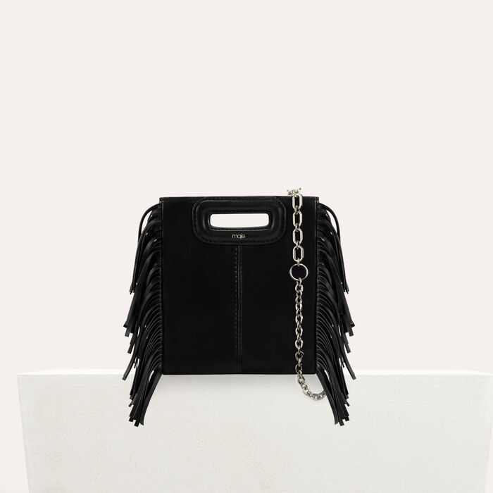 01bbc3827 MMINILEAC M mini-bag with leather fringes - null - Maje.com