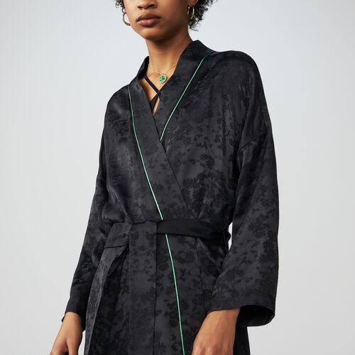 Kimono long jacket : Blazers color Black 210