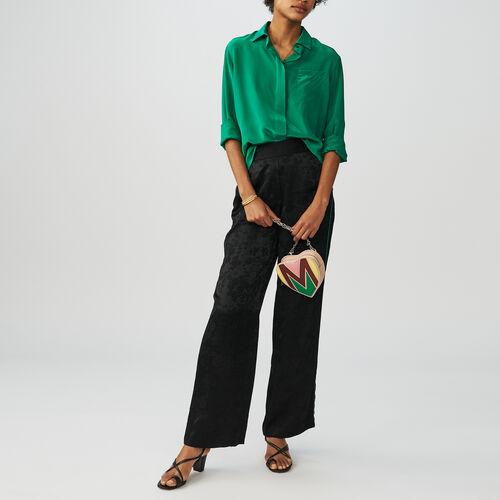 Jacquard trousers : Trousers color Black 210