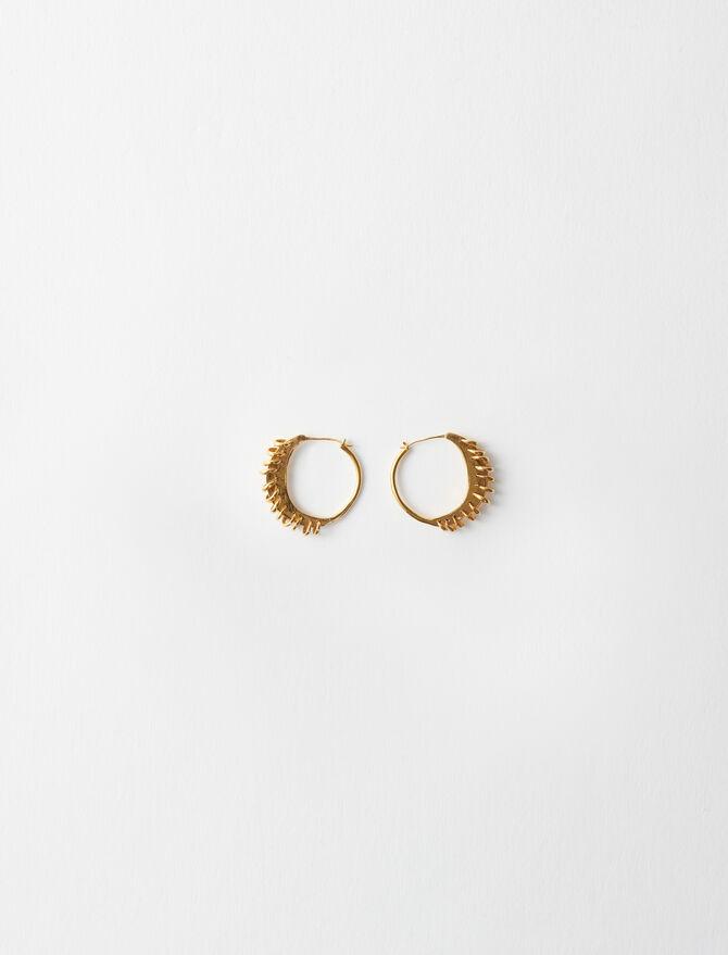 Gold-plated Creole earrings - Jewelry - MAJE