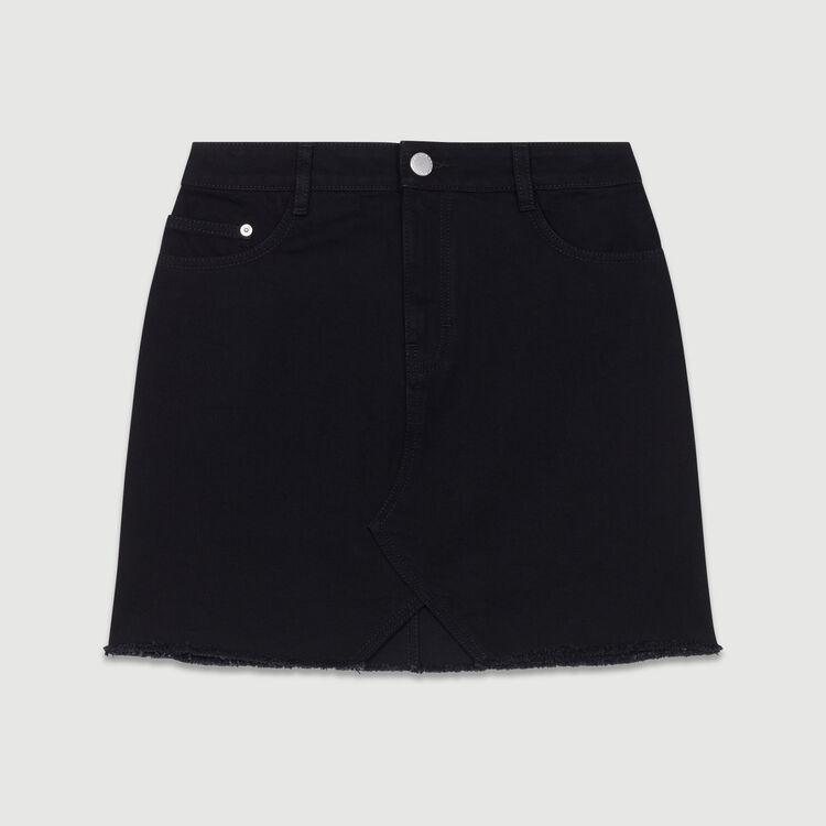 Short denim skirt : New Collection color Black 210