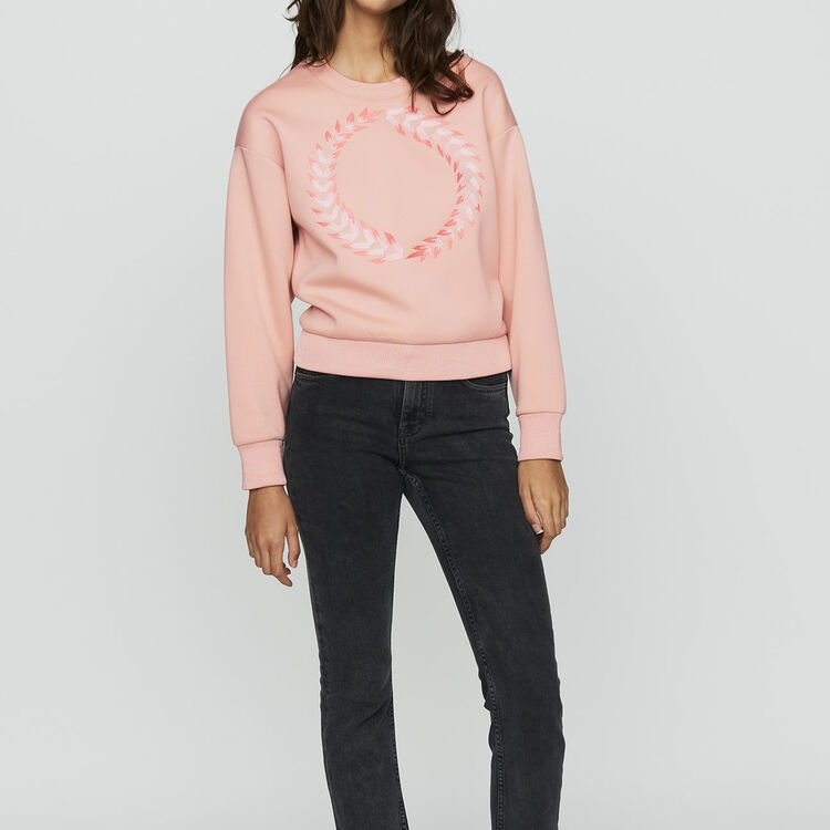 Fleece sweatshirt : Ready to wear color PECHE