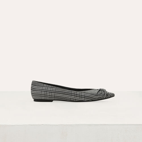 Flat pumps in Prince of Wales plaid : Tartan color CARREAUX