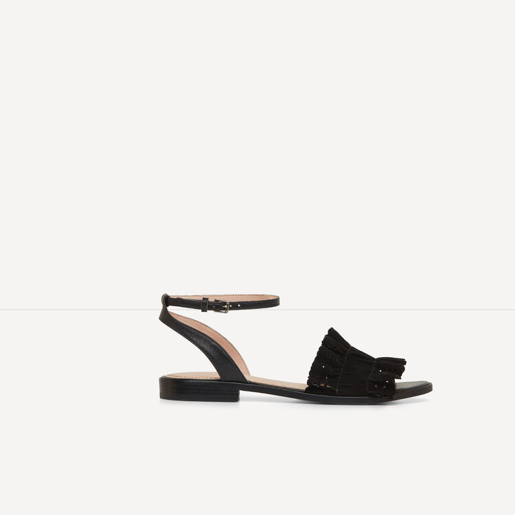 Leather flat sandals - See all - MAJE