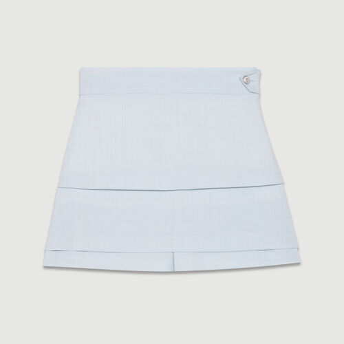 Trompe-l'oeil shorts : Ready to wear color Blue Sky
