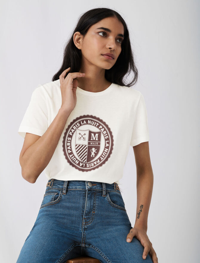 Screen-printed college-style T-shirt -  - MAJE