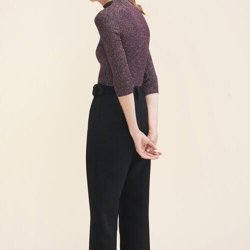 Lurex knit fitted jumper - Knitwear - MAJE