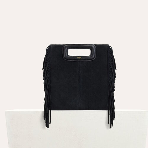 M bag with suede fringes : M bag color Black 210