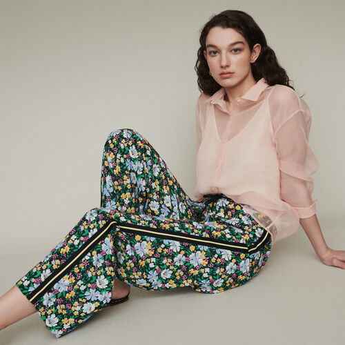 Sweatpants with floral print : Trousers color Print