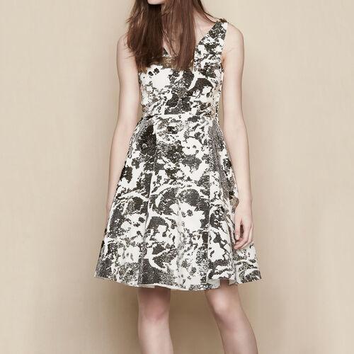 Sequinned dress : Dresses color White