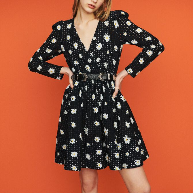 Dress in daisy guipure - See all - MAJE
