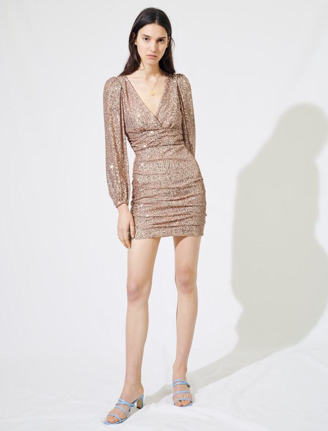 Sparkly mini dress - Dresses - MAJE