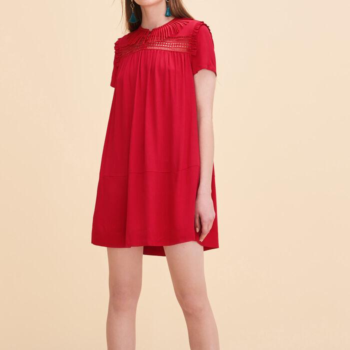 Floaty dress with embroidery -  - MAJE