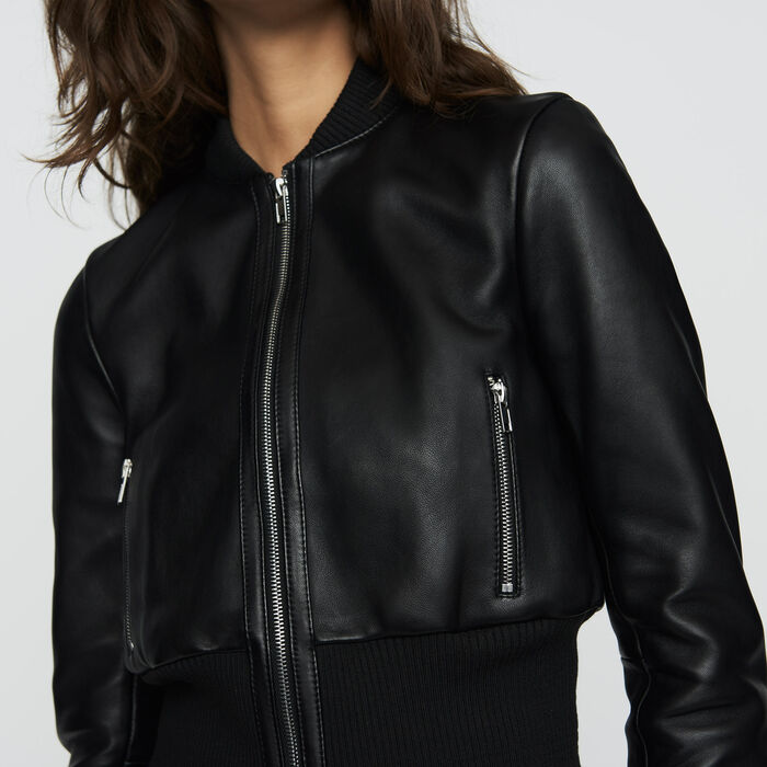 Leather teddy : Jackets color Black 210