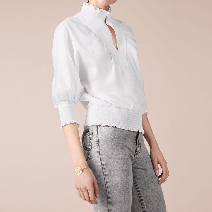Cotton blouse -  - MAJE