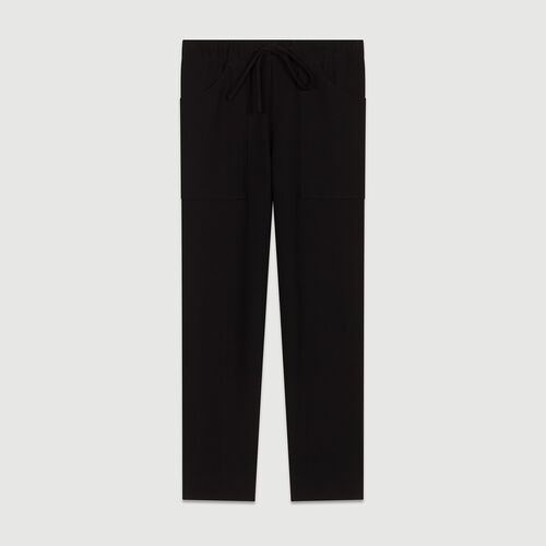 Straight cut trousers : Trousers color Navy