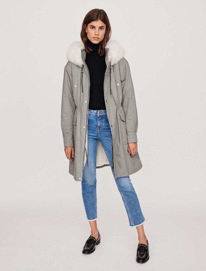 Oversized lined parka with hood - Jackets & Blazers - MAJE
