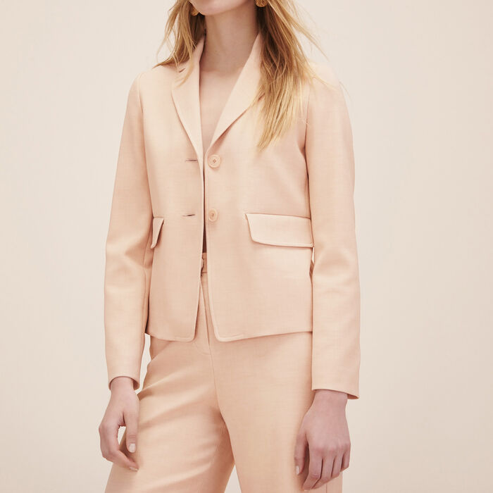 Tailored jacket : Blazers & Jackets color Nude